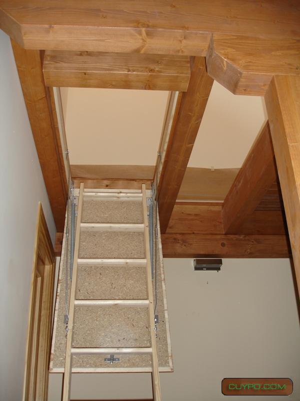 Casas prefabricadas madera escaleras de altillos - Altillos de madera ...